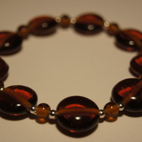 Topaz and silver bracelet