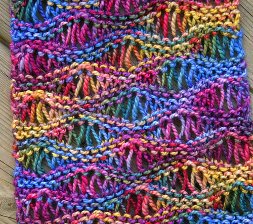 Easy and quick 'Drop Stitch Scarf' pattern - FREE ...