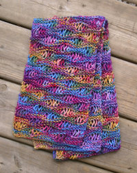 Drop stitch scarf pattern