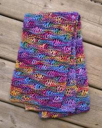 Drop stitch scarf pattern