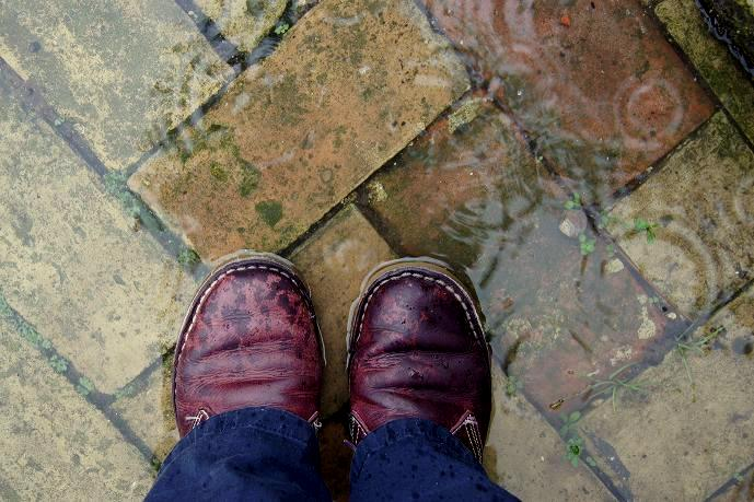 Shoes in rain2