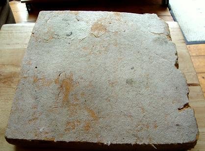 Piece of old insulation block